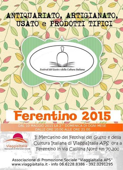 Ferentino dal 10 maggio mercatino artigianale for Mercatino colleferro